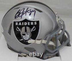 Bo Jackson Autographed Signed Raiders Speed Mini Helmet Beckett 113789 181089
