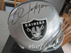 Bo Jackson Autographed Signed Replica Raiders Full Size Helmet Bo + Beckett COA