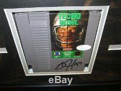 Bo Jackson Autographed Techno Bowl Nintendo Display 16x20 Frame JSA Cert