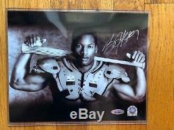 Bo Jackson Bo Knows Bo Autographed 8x10 B&W Photograph. TRISTAR COA