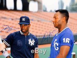 Bo Jackson & Deion Sanders Autographed 16x20 NY & KC Photo- JSA W Auth
