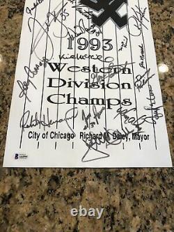 Bo Jackson Frank Thomas 1993 White Sox Team Signed Street Banner Beckett LOA