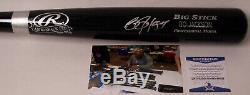 Bo Jackson Hand Signed Adirondack Pro Black Wood Baseball Bat Beckett Bas Itp