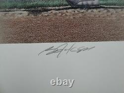 Bo Jackson Hand Signed Auto Large Poster Baseball Football Royals Oakland Raider