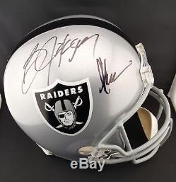 Bo Jackson & Marcus Allen Autographed Signed Raiders Full Size Helmet PSA