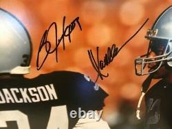 Bo Jackson & Marcus Allen Signed 16x20 Photo Beckett COA Oakland Raiders Mint