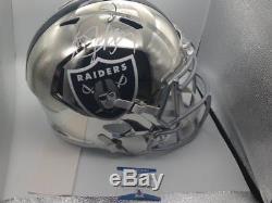 Bo Jackson Raiders Autographed Full Size Chrome Rep Helmet Beckett Holo Coa