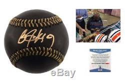 Bo Jackson SIGNED Black Baseball Beckett Royals White Sox Autographed
