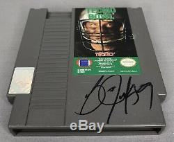 Bo Jackson SIGNED Nintendo Tecmo Bowl Game with GTSM Holo Raiders Football