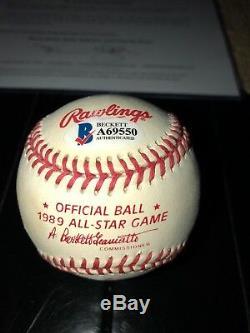 Bo Jackson Signed 1989 All Star Game Baseball Beckett BAS