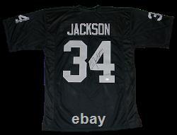 Bo Jackson Signed Autographed Oakland Raiders #34 Black Jersey Beckett