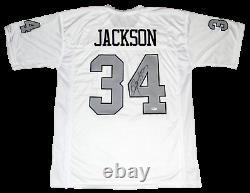 Bo Jackson Signed Autographed Oakland Raiders #34 White Jersey Beckett