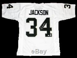 Bo Jackson Signed Autographed Oakland Raiders #34 White Jersey Jsa