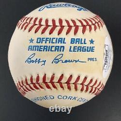 Bo Jackson Signed Baseball Bob Brown Royals LA Raiders Football Autograph JSA 1