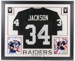Bo Jackson Signed Custom Framed Los Angeles Raiders Jersey (Beckett COA)
