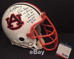 Bo Jackson Signed F/S Auburn Helmet With Bo Facemask WAR EAGLE Heisman 85 PSA