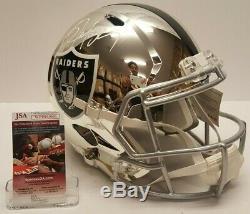 Bo Jackson Signed Full Size Chrome Helmet Oakland Raiders JSA WPP053006