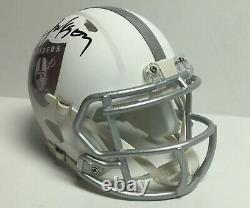 Bo Jackson Signed Los Angeles Raiders ICE Mini-Helmet Bo Knows BAS WA62961