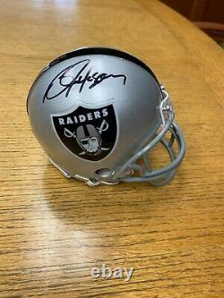 Bo Jackson Signed Oakland / Los Angeles Raiders Mini Helmet Schwartz Sports