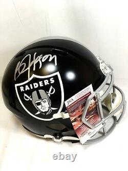 Bo Jackson Signed Oakland Raiders Full Size Replica Blaze Helmet JSA Auto