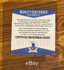 Bo Jackson Signed Oakland Raiders Speed Full Size Chrome Rep Helmet- Beckett COA