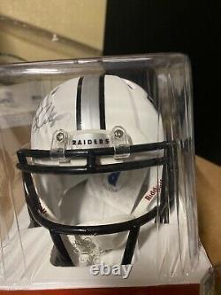 Bo Jackson Signed Raiders Matte White Mini Helmet