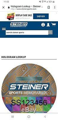 Bo Jackson Signed Raiders Mini Helmet Steiner Sports Numbered Hologram see pics