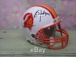 Bo Jackson Signed T/b Tampa Bay Bucs Mini Helmet #34 Rare