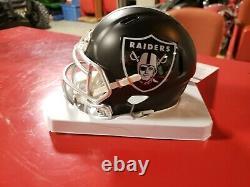 Bo Jackson Signed (autographed) Oakland Raiders BLAZE Mini Helmet JSA cert