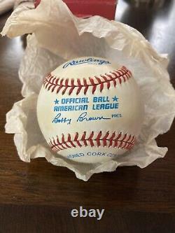 Bo Jackson Single Signed Baseball Autographed AUTO with COA Kansas City Royals