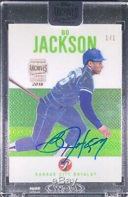 Bo Jackson auto signed on Card 1 of 1 Kansas City Royals Topps Archives RARE