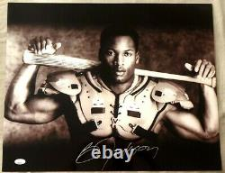 Bo Jackson autographed signed Bo Knows Nike 16x20 photo poster with bat pads JSA