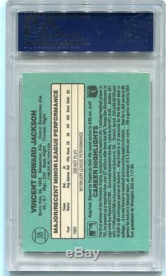 Bo Jackson signed 1986 Donruss ROOKIE RC Card #38 PSA GRADED 10 AUTOGRAPH Royals