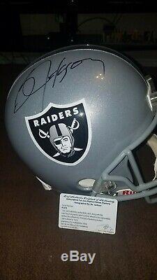 Bo jackson autographed full size helmet
