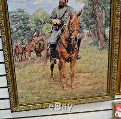 Bradley Schmehl STONEWALL JACKSON ARTIST PROOF withcoa Civil War Art Print 7/495