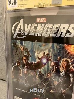 CGC 9.8 SS Avengers #1 Signed Samuel L Jackson Chris Evans Hemsworth Ruffalo ++