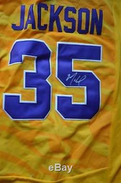 CHRIS JACKSON MAHMOUD ABDUL-RAUF AUTOGRAPHED STICHED JERSEY SIGNED WithCOA LSU