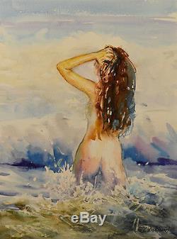 Contemporary Art/ Original Painting by American Artist Rukie Jackson /Nude