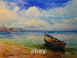 Contemporary Art/ Original painting by American Artist Rukie Jackson / Seascape