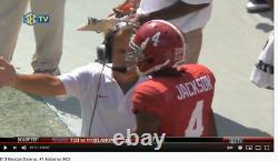 Eddie Jackson Game Used/Signed Alabama Crimson Tide Jersey 9/28/13 Ole Miss