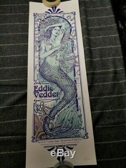 Eddie Vedder Kvaerndrup Denmark AP Poster Paul Jackson Signed/# Pearl Jam