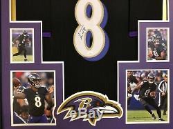 Framed Baltimore Ravens Lamar Jackson Autographed Signed Jersey Jsa Coa