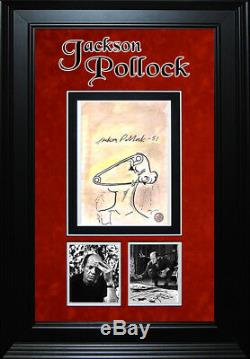 Framed Jackson Pollock Rare Original'POP-ART' Sketch signed & authenticated