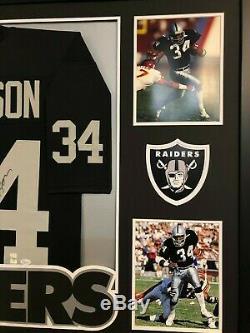 Framed Oakland Raiders Bo Jackson Autographed Signed Jersey Jsa Coa