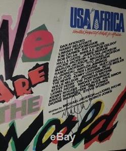 Hand Signed By Michael Jackson With Coa Rare We Are The World Record Sleeve