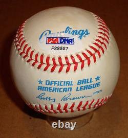 Hank Aaron/Eddie Mathews/Reggie Jackson Signed OAL HOF Baseball PSA/DNA F88587
