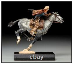 Harry Jackson Hand Painted Bronze Polychrome Sculpture Pony Express Signed Art