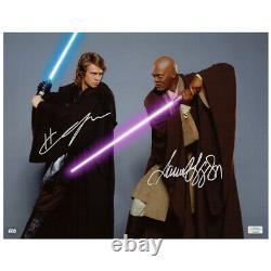 Hayden Christensen Samuel L. Jackson Autographed Star Wars Jedi 11x14 Photo