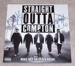 Ice Cube O'shea Jackson Jr Signed Straight Outta Compton Soundtrack Album Coa