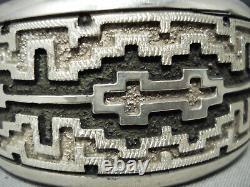 Important Navajo Dan Jackson Heavy Sterling Silver Bracelet